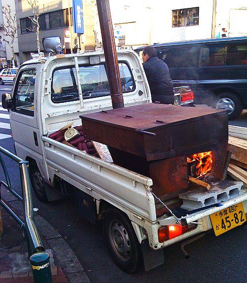 yaki imo truck in tokyo