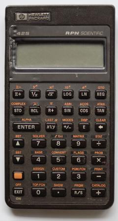Hewlett Packard 42s Calculator Stuff